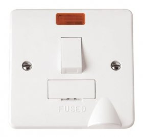 Click Mode 13A Switched Fused Spur Neon + Flex Outlet CMA052