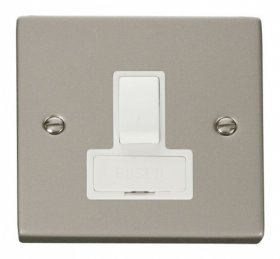 Click Deco Pearl Nickel Switched Fused Spur VPPN651WH