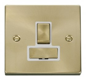 Click Deco Satin Brass Switched Fused Spur VPSB751WH