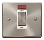 Click Deco Satin Chrome 1 Gang 45A DP Switch with Neon VPSC501WH