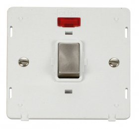 Click Definity 20A DP Switch With Neon Insert SIN723PWBS