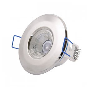 Inceptor Nano 5 Fixed Chrome Dimmable LED Downlight Warm White