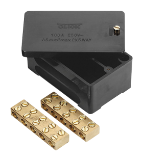 Click 100A 2 Pole Phase Block (Link Box)
