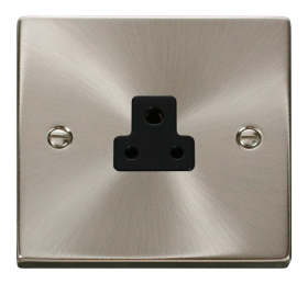 Click Deco Stainless Steel 2A Round Pin Socket VPSS039BK