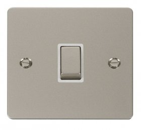 Click Define Pearl Nickel 20A Double Pole Switch FPPN722WH