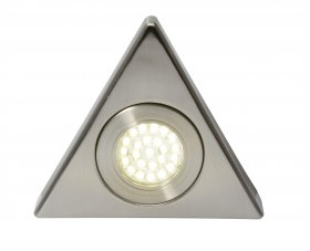 Fonte LED Triangular Cabinet Light Satin Nickel 3000K CUL-25319