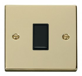Click Deco Polished Brass 1 Gang 2 Way Switch VPBR011BK