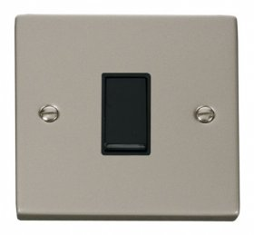 Click Deco Pearl Nickel 1 Gang 2 Way Switch VPPN011BK