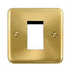 Click Deco Plus Satin Brass New Media Single Plate DPSB310