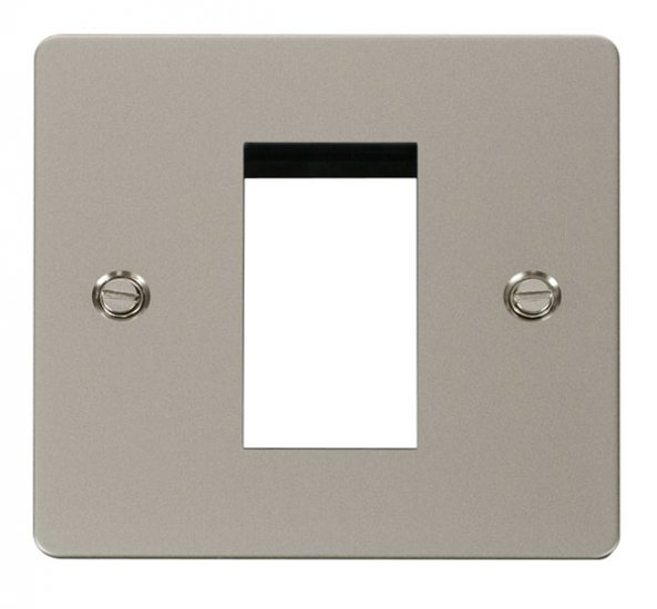 Click Define Pearl Nickel New Media Single Plate FPPN310