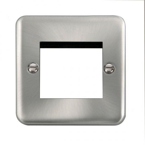 Click Deco Plus Satin Chrome New Media Twin Plate DPSC311