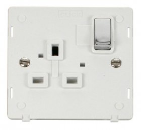 Click Definity 1 Gang Switched Socket Outlet Insert SIN535PWCH