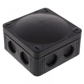 Wiska 60580 Waterproof Junction Box Combi 308/5 Black