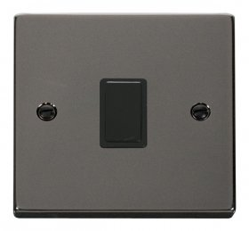 Click Deco Black Nickel 20A Double Pole Switch VPBN622BK