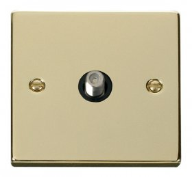 Click Deco Polished Brass Non-Isolated Sat Socket VPBR156BK