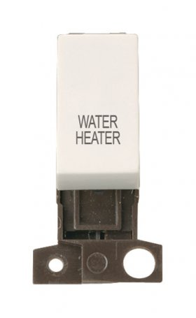 Click MiniGrid MD018PWWH Polar White 13A DP Water Heater Sw Mod