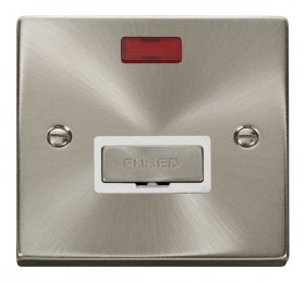 Click Deco Satin Chrome Unswitched Fused Spur + Neon VPSC753WH