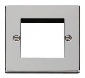 Click Deco Polished Chrome New Media Twin Aperture Plate VPCH311