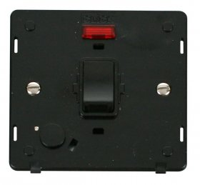 Click Definity 20A DP Switch with F/O Neon Insert SIN023BK