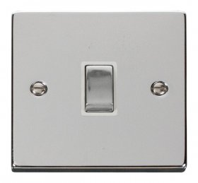 Click Deco Polished Chrome 20A Double Pole Switch VPCH722WH