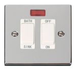 Click Deco Polished Chrome 20A DP Sink/Bath Switch VPCH024WH