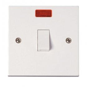 Click Polar 20A Double Pole Switch with Neon PRW023