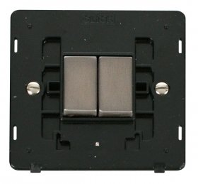 Click Definity 2 Gang 2 Way Switch Insert SIN412BKSS