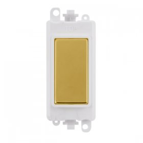 Click Grid Pro GM2008PWBR Blank Module White Polished Brass