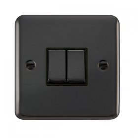 Click Deco Plus 2 Gang 2 Way Ingot Switch DPBN412BK
