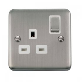 Click Deco Plus 13A Single Switched Socket DPSS535WH