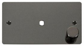 Click Define Black Nickel Single Dimmer Plate 1000W Max FPBN185