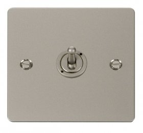 Click Define Pearl Nickel 1 Gang 2 Way Toggle Switch FPPN421