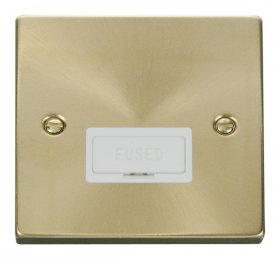Click Deco Satin Brass Unswitched Fused Spur VPSB650WH
