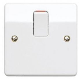 MK Logic Plus K5403WHI 20A DP Switch with Flex Outlet