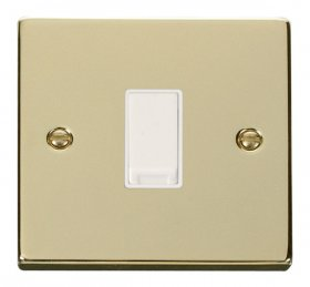 Click Deco Polished Brass 1 Gang 2 Way Switch VPBR011WH
