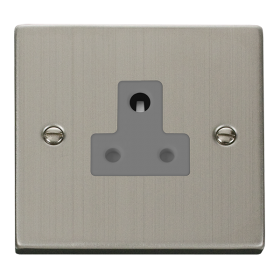 Click Deco Stainless Steel 5A Round Pin Socket VPSS038GY