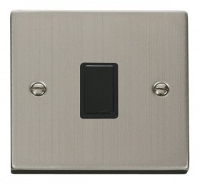 Click Deco Stainless Steel 20A Double Pole Switch VPSS622BK
