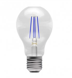 Bell 4W ES LED Blue Filament GLS Lamp ­60062