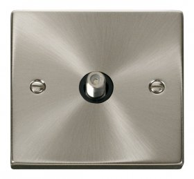 Click Deco Satin Chrome Non-Isolated Satellite Socket VPSC156BK
