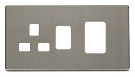 Click Definity 45A Cooker Sw with 13A Skt Cover Plate SCP204SS