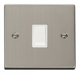 Click Deco Stainless Steel 20A Double Pole Switch VPSS622WH