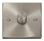 Click Deco Satin Chrome 1 Gang 2 Way 400W Dimmer Switch VPSC140