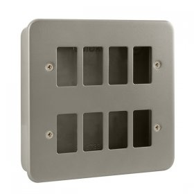 Click Metal Clad 8 Gang Grid Pro Front Plate CL20508