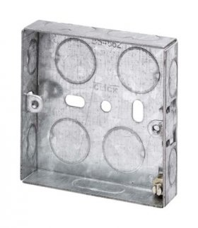 1 Gang 16mm Deep Galvanised Knock Out Box