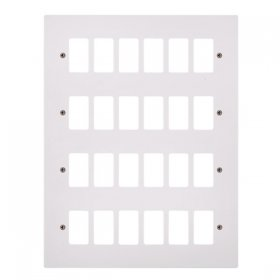 Click Polar White 24 Gang Grid Pro Front Plate PRW20524