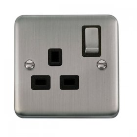 Click Deco Plus 13A Single Switched Socket DPSS535BK