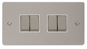Click Define Pearl Nickel 4 Gang 2 Way Switch FPPN414WH