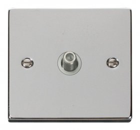 Click Deco Polished Chrome Single Satellite Socket VPCH156WH