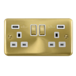 Click Deco Plus Twin USB Double Switched Socket DPSB580WH