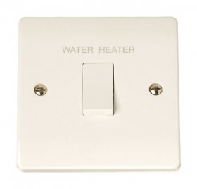 "Click Curva CCA040 20A Double Pole Switch ""Water Heater"""